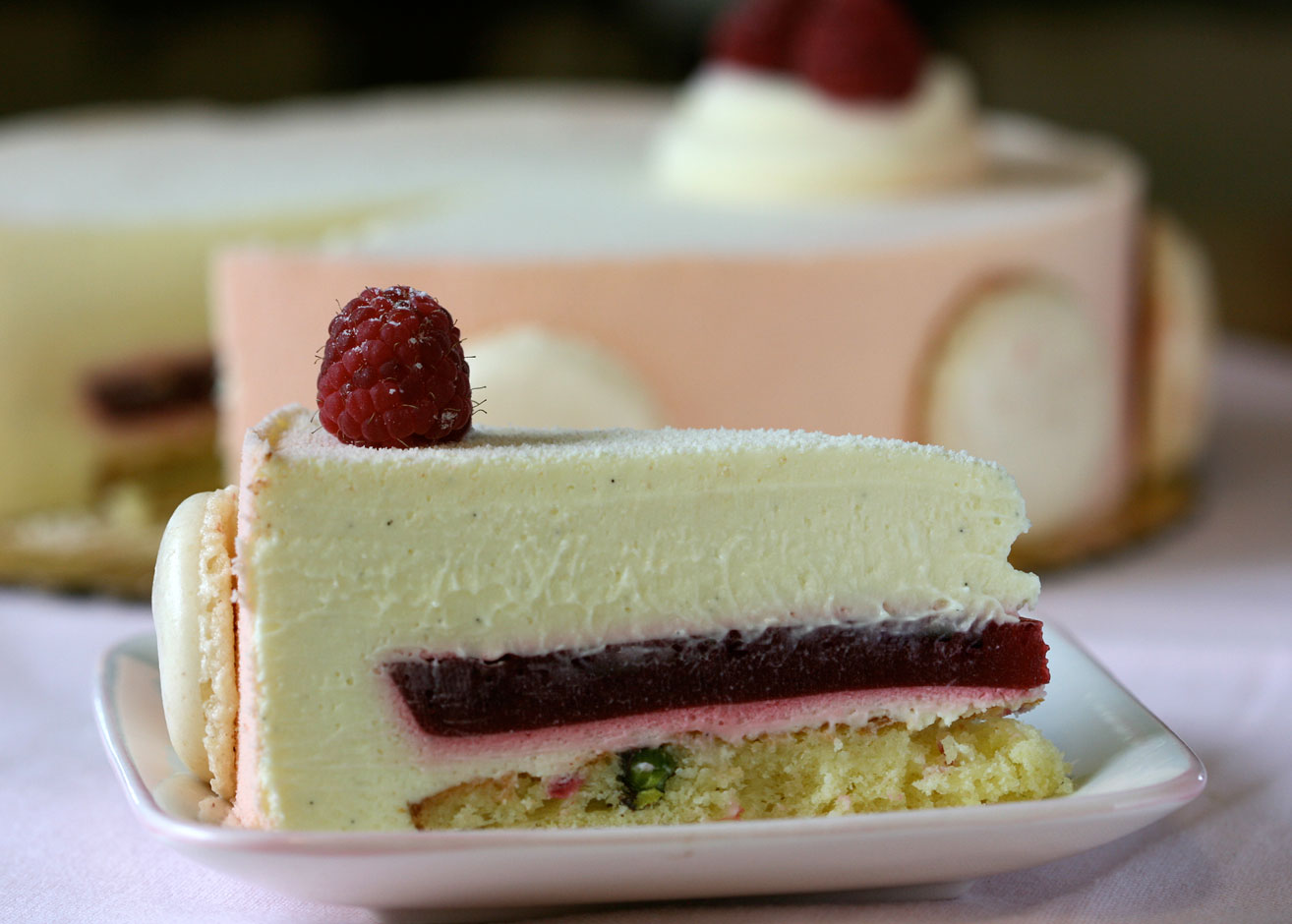 White Chocolate Mousse Cake Filling