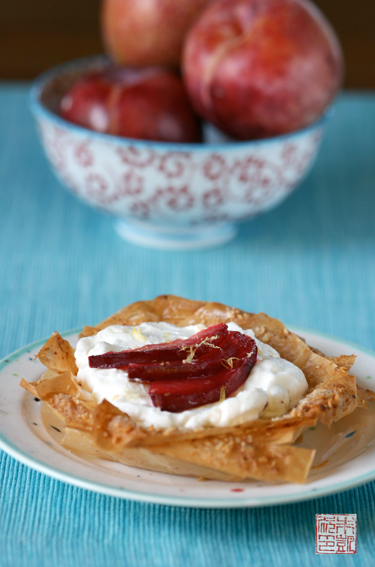 Roasted Pluot Phyllo Tarts and a Farewell to My Kitchen - Dessert First