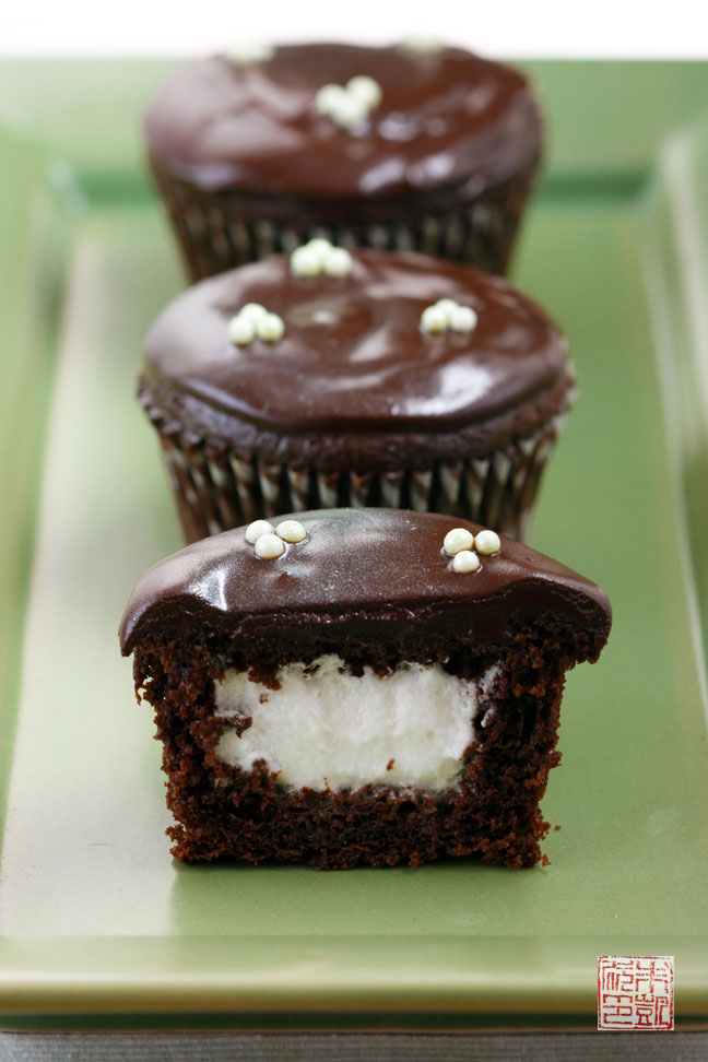 Chocolate Souffle Cupcakes With Mint Cream Recipes — Dishmaps