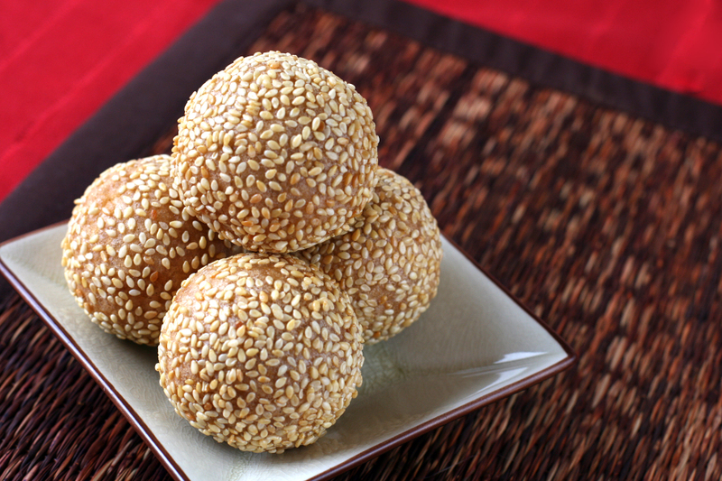 Chinese new year sesame seed balls dessert first for Asian cuisine desserts