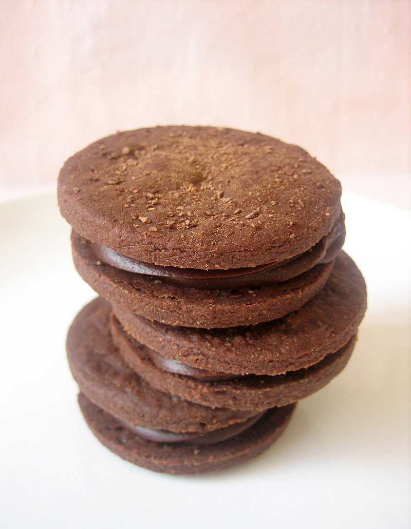 Chocolate Shortbread Sandwich Cookies Recipes — Dishmaps